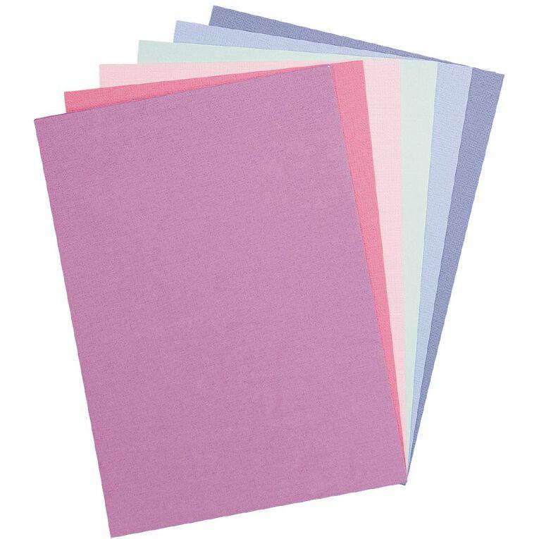 Uniti Value Cardstock Textured 216gsm 30 Sheets Pastel A4, , hi-res