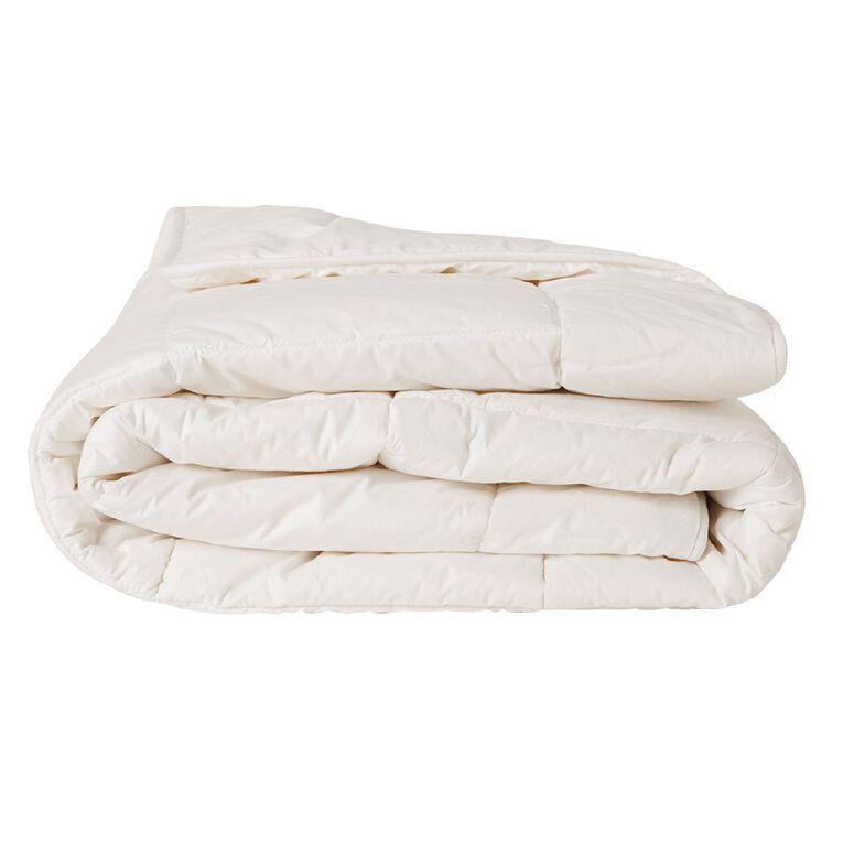 Living & Co Duvet Inner All Seasons Wool 285gsm White Single, White, hi-res