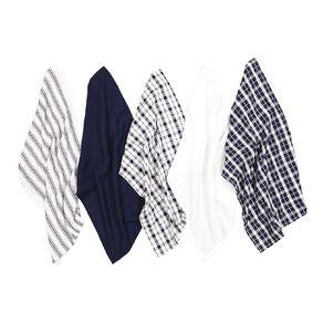 Living & Co Tea Towel Mix Set 5 Pack Navy 40cm x 65cm