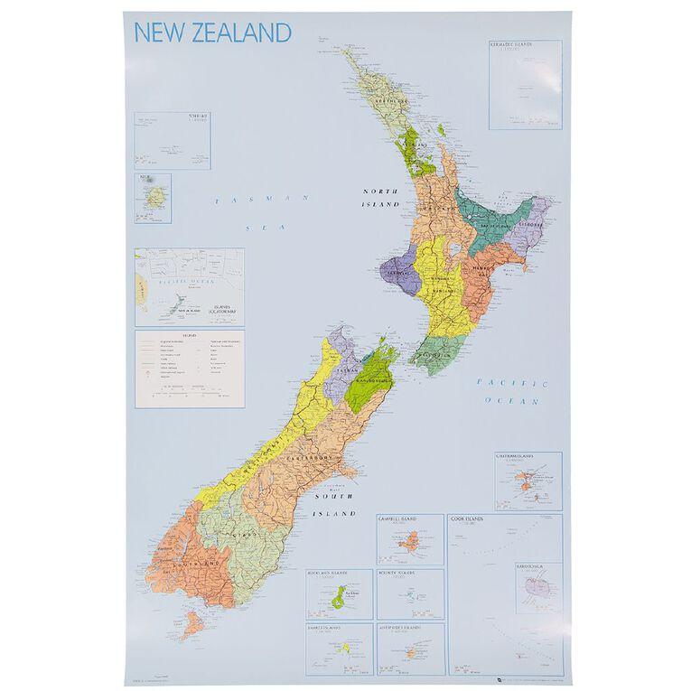 Poster New Zealand Regions, , hi-res