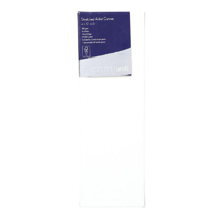 Uniti Platinum Canvas 4x12 Inches 380Gsm, , hi-res