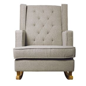 Living & Co Alice Rocking Chair Tufted Grey