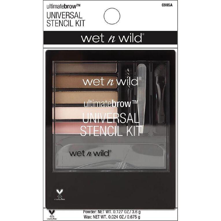 Wet n Wild Ultimate Brow Universal Stencil Kit Universal Appeal, , hi-res