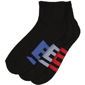 B FOR BONDS Men's Cushioned Quarter Crew Socks 3 Pack