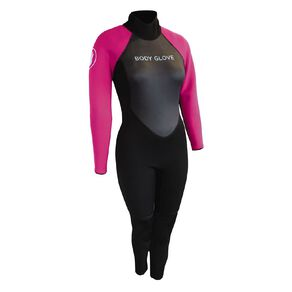 Body Glove Womens Full Suit Black/Pink Size 12