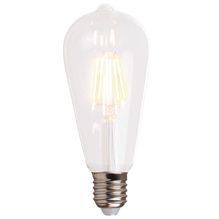 Living & Co LED E27 Pear Light Bulb Clear 4w Warm White, , hi-res