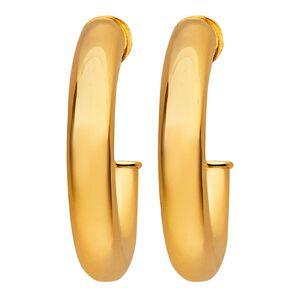 9ct Gold Stud Hoop Earrings