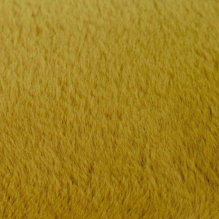 Living & Co Plush Bunny Faux Fur Rug Tawny Olive Yellow 160cm x 230cm, Yellow, hi-res