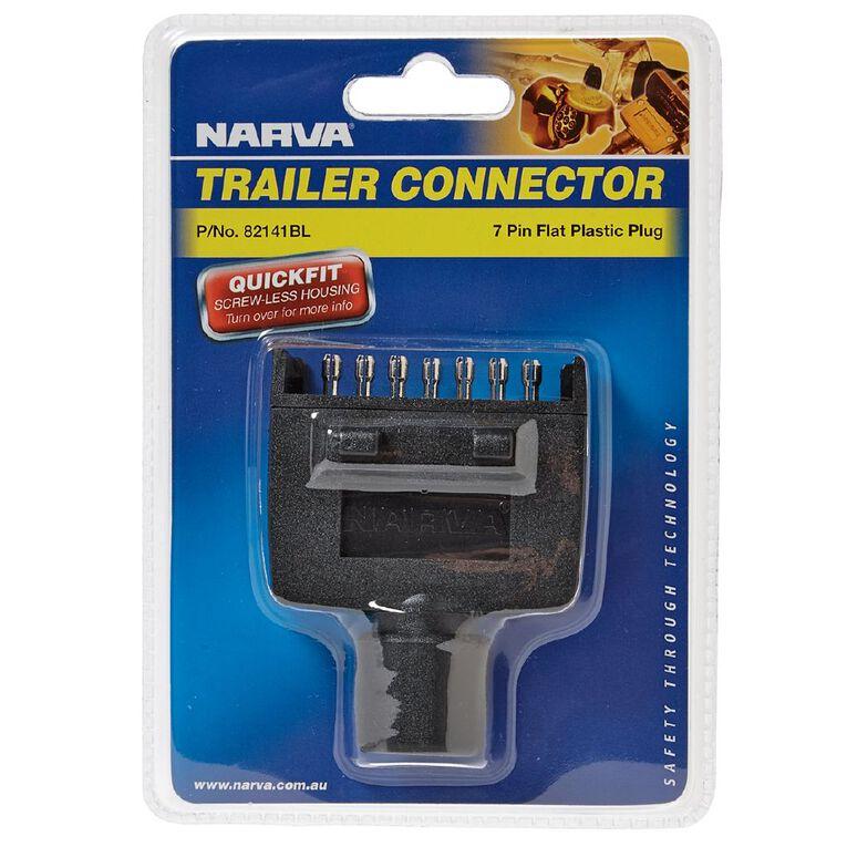 Narva Trailer Plug 7 Pin Flat, , hi-res