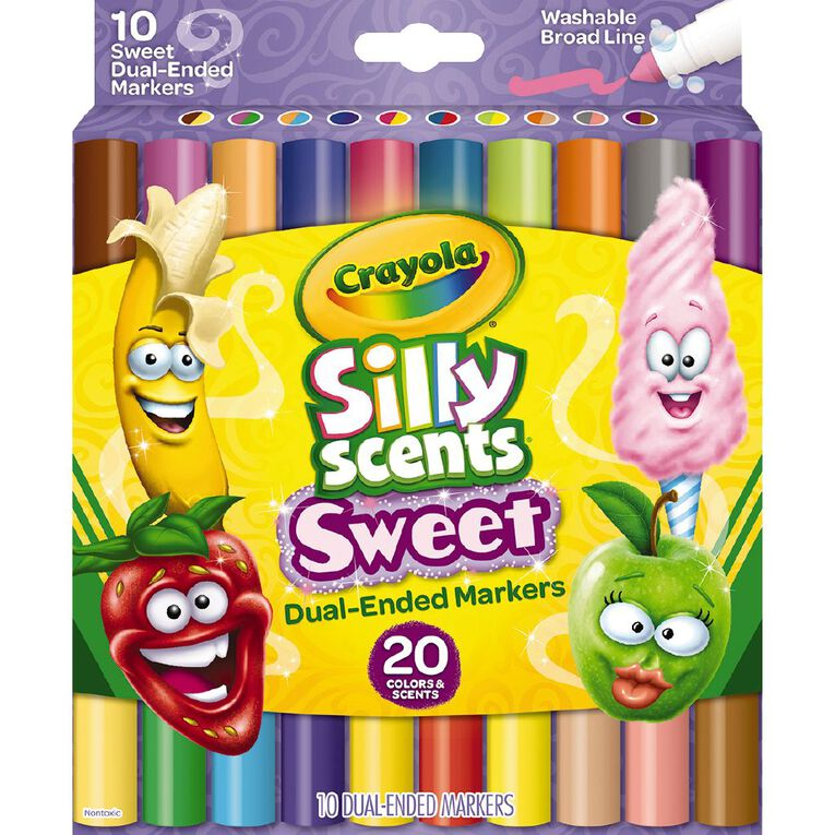 Crayola Silly Scents Sweet Dual Ended Markers 10 Pack, , hi-res