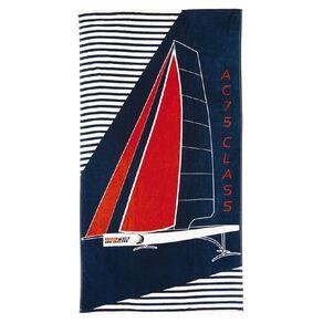 America's Cup Beach Towel Navy 86cm x 160cm