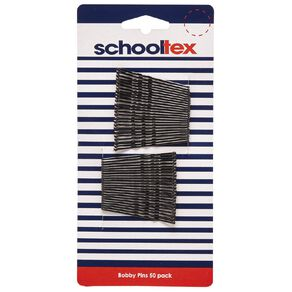 Schooltex Bobby Pins 50 Pack Black