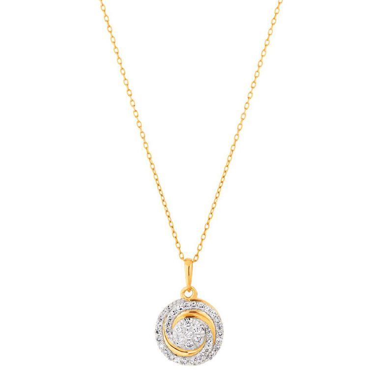 0.25 Carat Diamond 9ct Gold Round Swirl Cluster Pendant, , hi-res