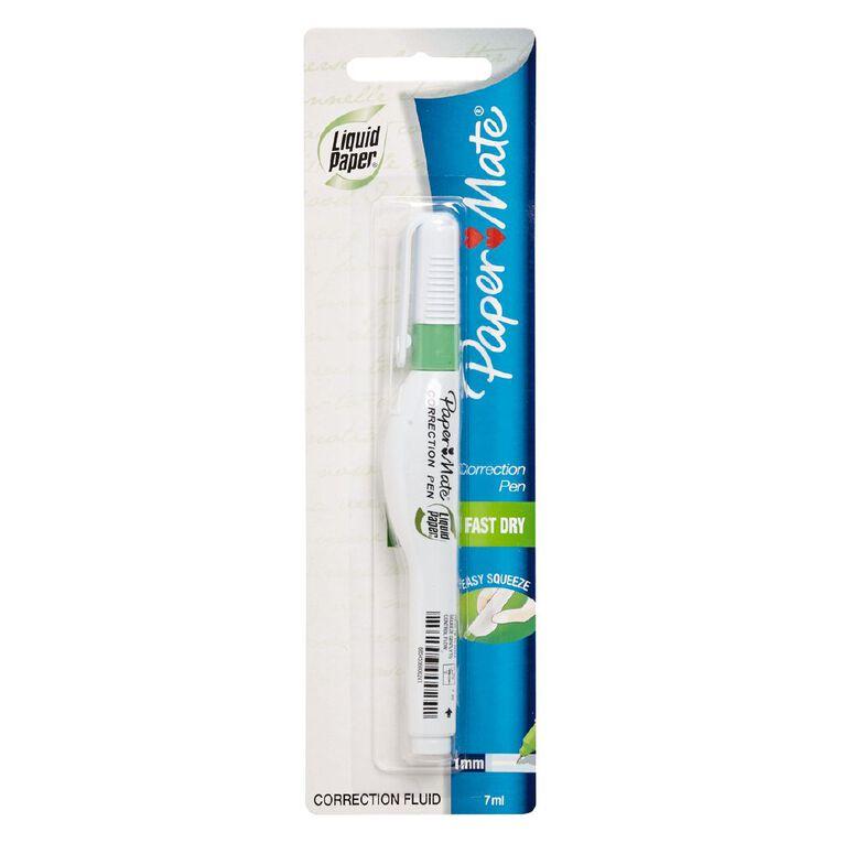 Paper Mate Liquid Paper Correction Pen  7ml White, , hi-res