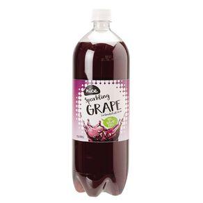 Nice 99% Sugar Free Grape Carbonated Beverage Drink 1.5L