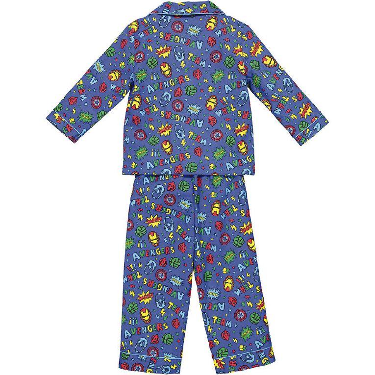 Avengers Kids' Flannelette Pyjamas, Blue, hi-res