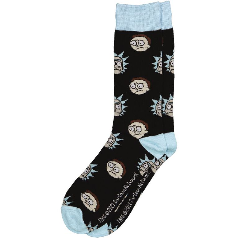 Crazy Socks Men's Crew Socks 1 Pack, Blue Light, hi-res