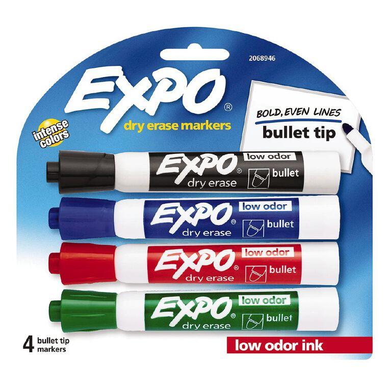 Expo Dry Erase Whiteboard Marker Bullet Tip Business Assorted - 4 Pack, , hi-res