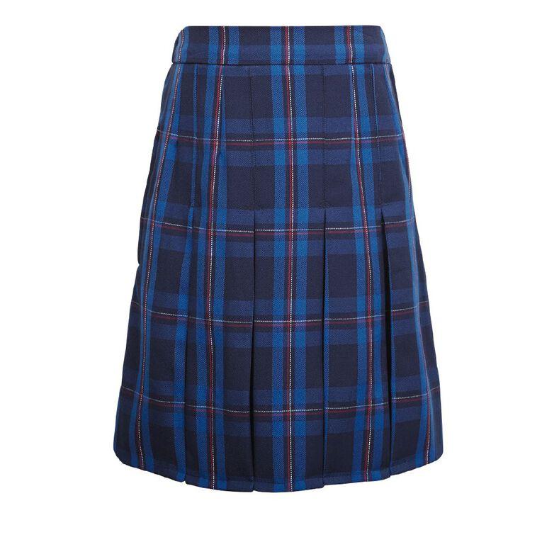Schooltex Women's Box Pleat Skirt, Schooltex Tartan TRT023, hi-res