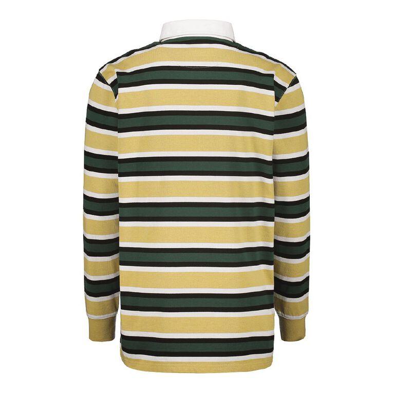 Garage Men's Long Sleeve Polo, Tan, hi-res