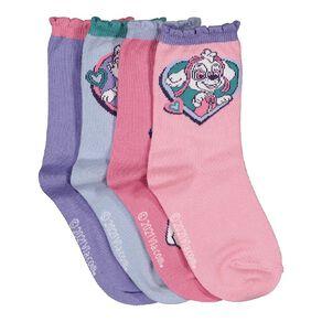 Paw Patrol Girls' Crew Socks 4 Pack