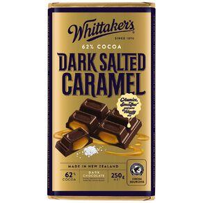 Whittaker's 62% Dark Salted Caramel Chocolate Block 250g