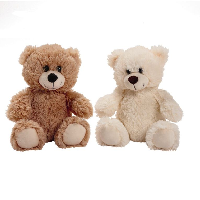 Play Studio Plush Bear Brown or White 20cm Assorted, , hi-res