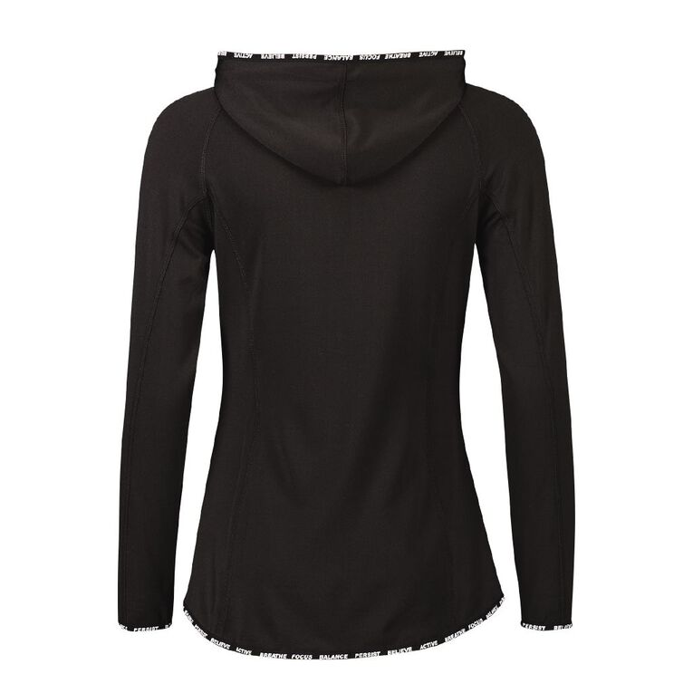 Active Intent Women's Slogan Elastic Detail Sweatshirt, Black, hi-res