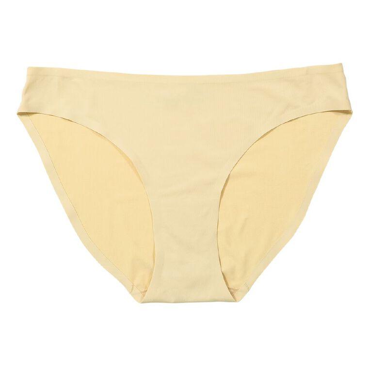H&H Women's Micro No Show Bikini Briefs, Skin, hi-res