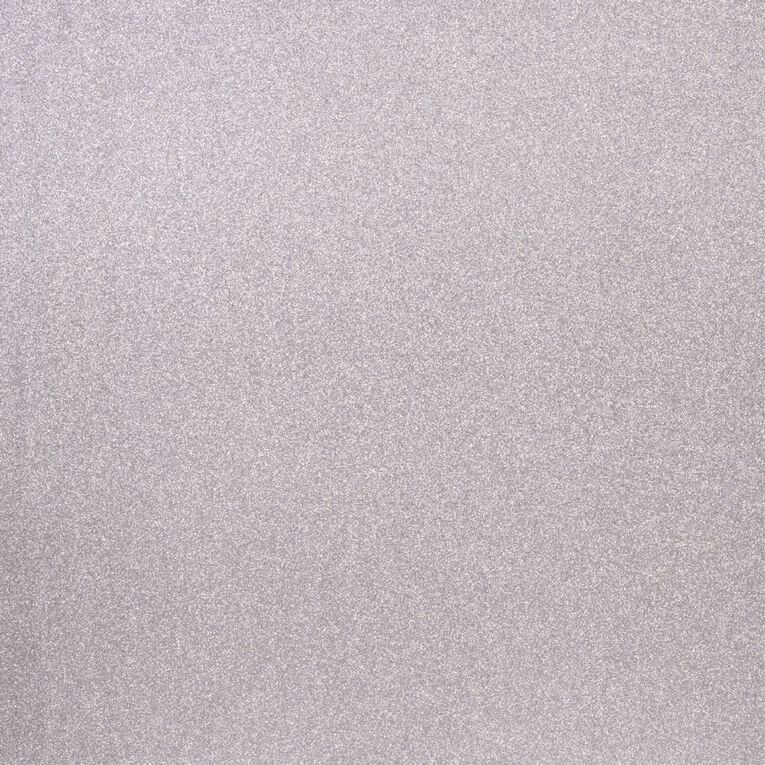 American Crafts Cardstock Sparkle Fine 12 x 12 Silver, , hi-res