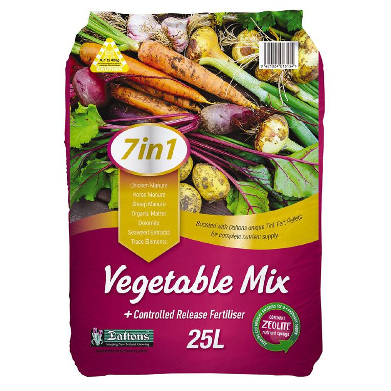 Daltons 7-in-1 Vegetable Mix 25L, , hi-res