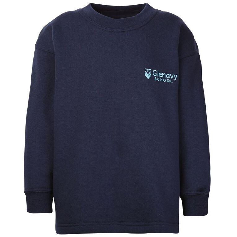 Schooltex Glenavy Sweatshirt with Embroidery, Navy, hi-res
