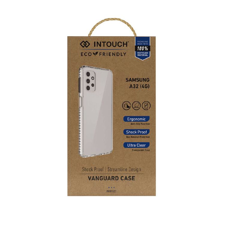 INTOUCH Samsung A32 (4G) Vanguard Drop Protection Case Clear, , hi-res