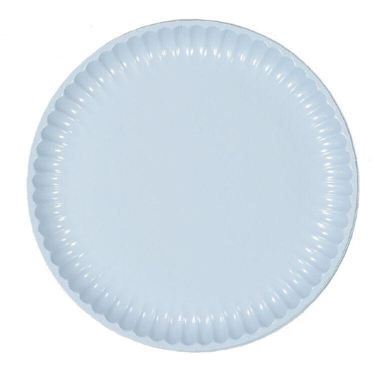 Party Inc Paper Dinner Plates 23cm Pastel Blue 20 Pack, , hi-res
