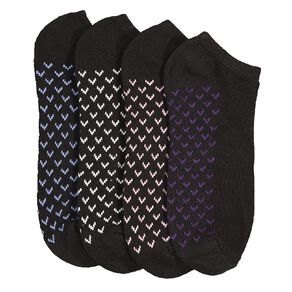 Active Intent Women's No Show Cushioned Socks 4 Pack