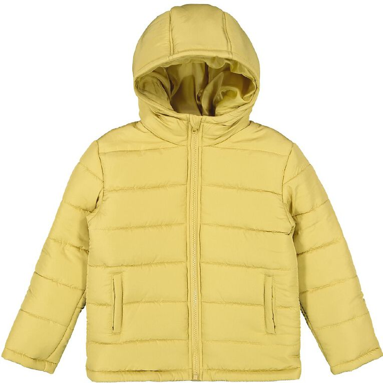Young Original Plain Puffer Jacket, Yellow Dark, hi-res