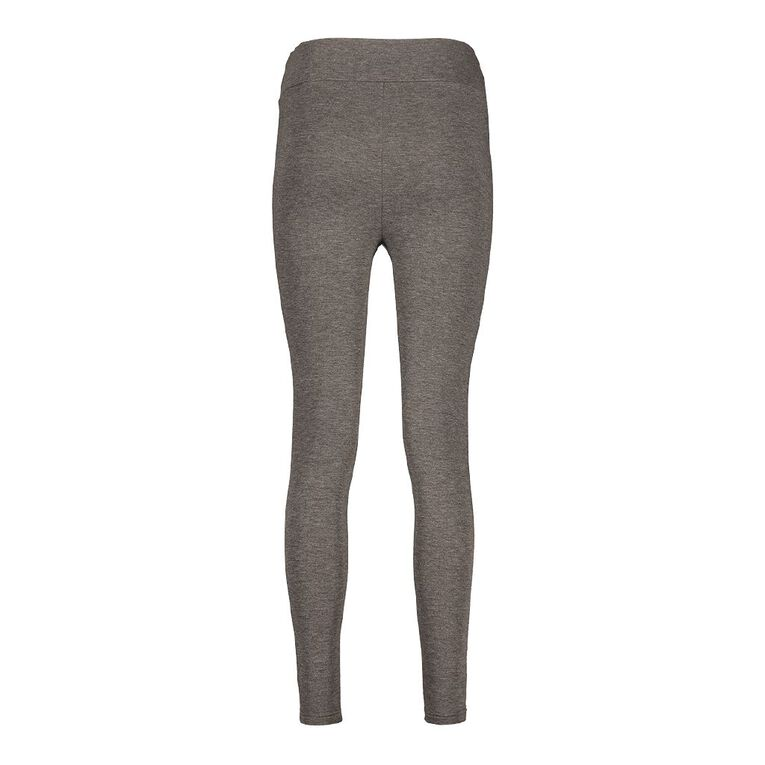 H&H Women's Brushed Leggings, Charcoal, hi-res image number null