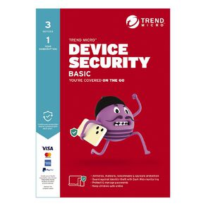 Trend Micro Device Security Basic - 3 Device 1 Year Subscription