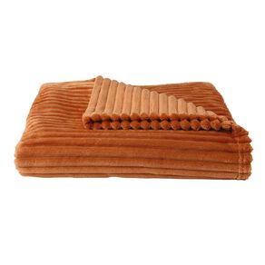Living & Co Carved Throw Rust