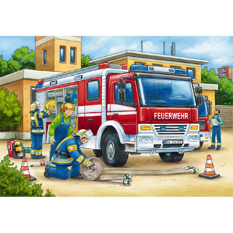 Ravensburger Police and Firefighters Puzzle 2 x 12 Piece, , hi-res