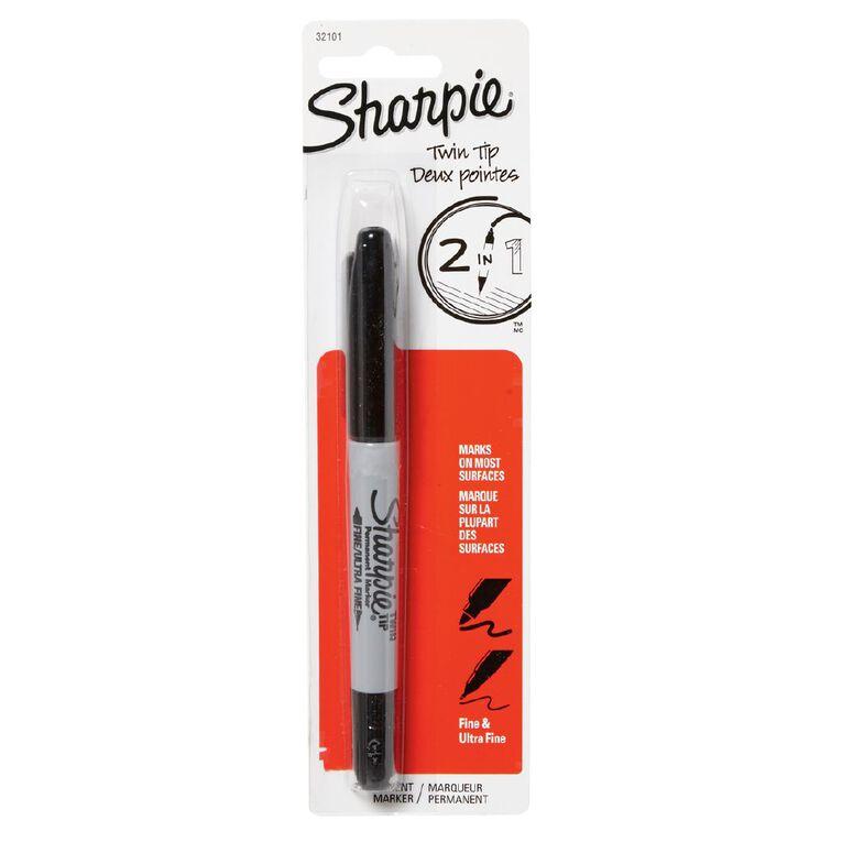 Sharpie Single Marker Twin Tip Black 1 Pack, , hi-res