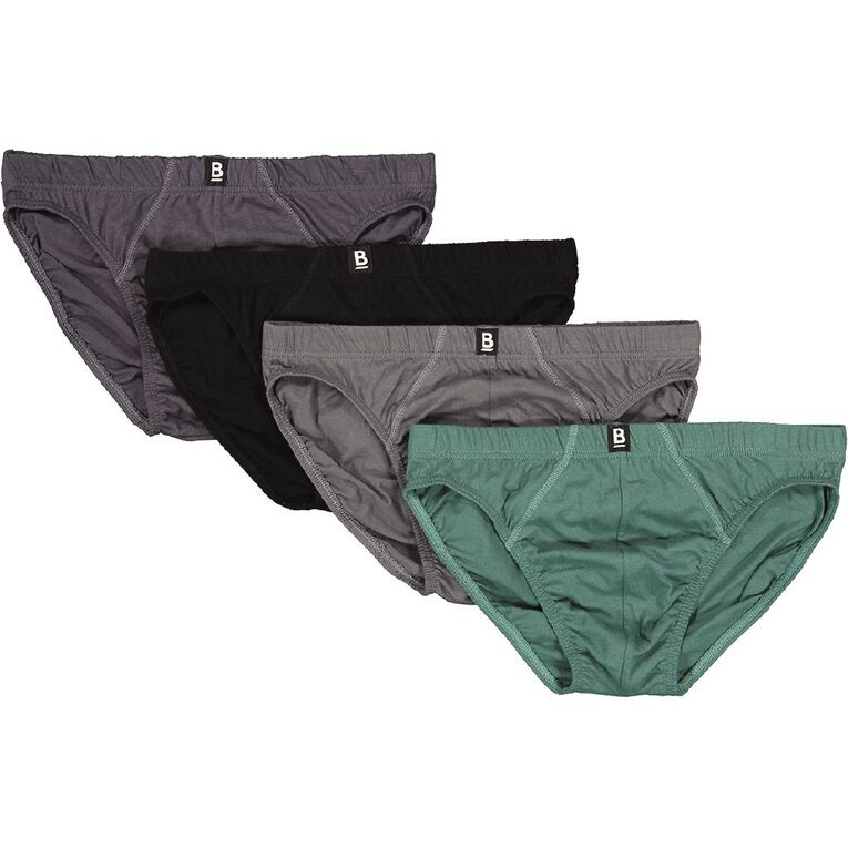B FOR BONDS Men's Classic Brief 4 Pack, Khaki, hi-res image number null