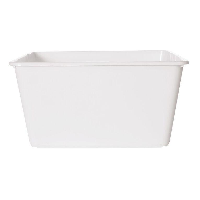 Living & Co Stackable Tub Rectangular White 15L, , hi-res