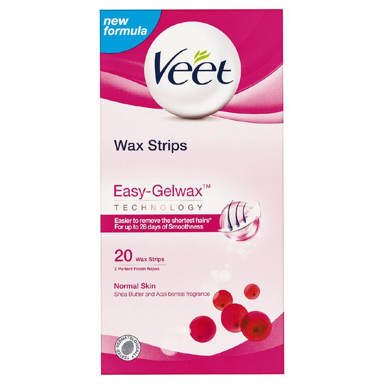 Veet Easy Grip Normal Skin 20 Strips, , hi-res