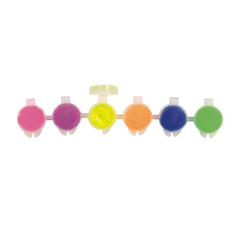 Kookie Paint Pots Neon 6ml 6 Pack, , hi-res