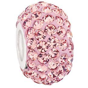 Ane Si Dora Sterling Silver Light Rose Crystal Charm