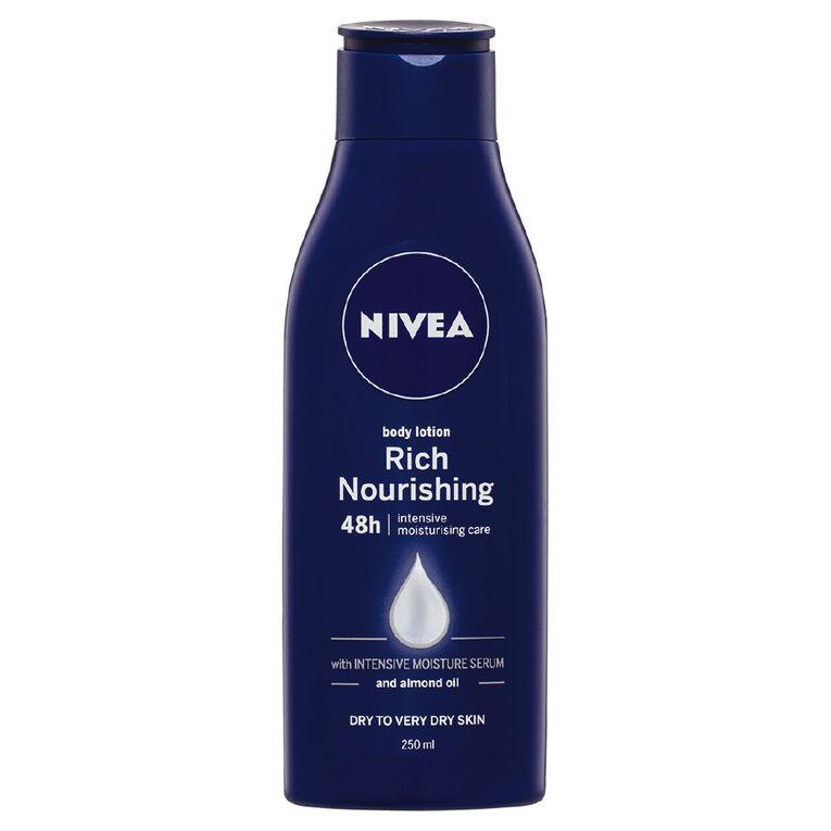 Nivea Rich Nourishing Body Lotion 250ml, , hi-res