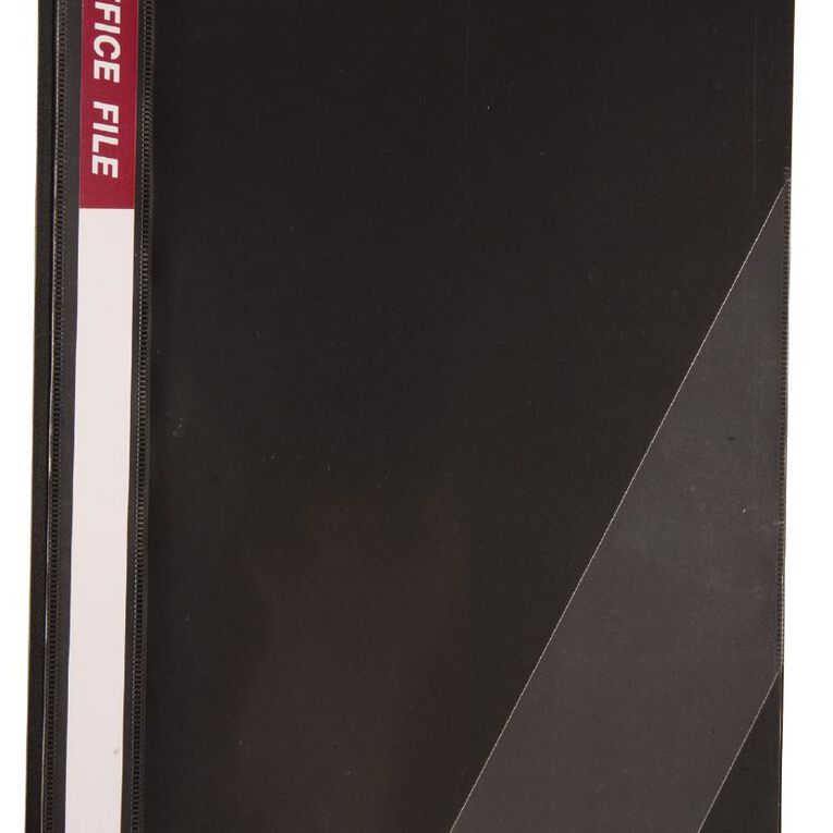 Office Supply Co Report Cover Inside Clip Black A4, , hi-res