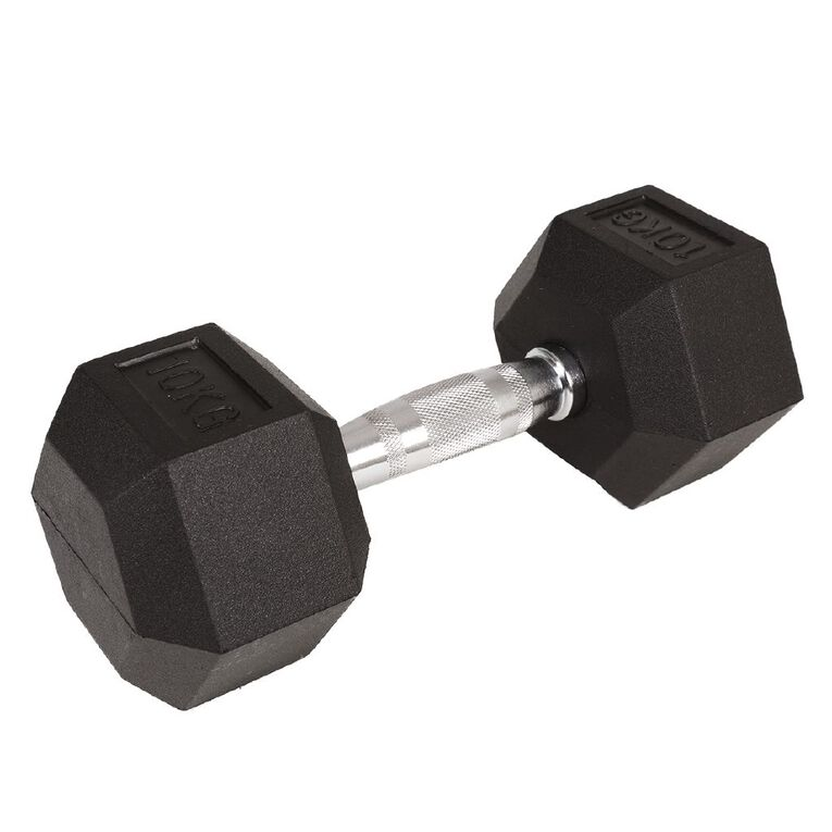 Active Intent Fitness Hex Dumbbell 10kg, , hi-res