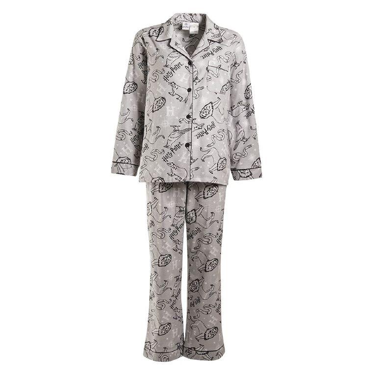 Harry Potter Warner Bros Women's Flannelette Pyjama Set, Grey, hi-res